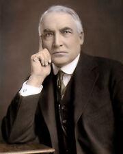 "WARREN GAMALIEL HARDING 1920 29th US PRESIDENT 8x10"" HAND COLOR TINTED PHOTO"