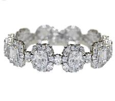 CHUNKY MIXED STONE CLUSTER CUBIC ZIRCONIA TENNIS BRACELET-BRIDAL