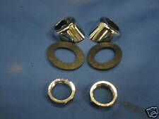 PAIR MG MIDGET 1275 OR 1500 WIPER BEZELS,SEALS AND CHROME NUTS ***ZP15