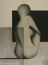 Joël LACROIX / BORYA (1931) Technique mixte (Pochoir Aérographe) signée/ Nu 1972