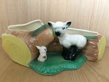 Hornsea Fauna: Lamb & Rabbit Beside Log Vase, No 106