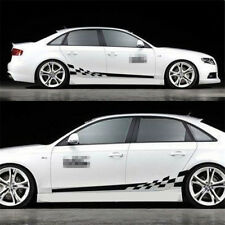 Pair Hot Car Decal Vinyl Graphics Side stickers Body Decals sticker Black