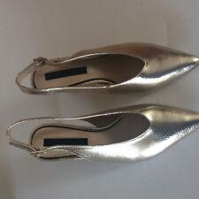 Dorothy Perkins Levi Gold Female Shoes UK Size 5
