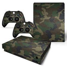 XBOX ONE X Skin Design Foils Aufkleber Schutzfolie Set - Camouflage 3 Motiv