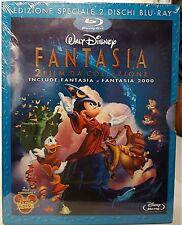 FANTASIA e FANTASIA 2000 - BLU RAY Walt Disney con SLIPCASE 1a Edizione NUOVO