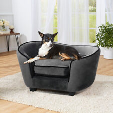 Jumbo Pet Sofa Dog Cat Couch Wooden Velvet with Foam Cushion Chair Lounge Bed XL