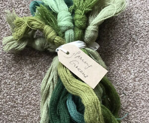 Vintage Appleton's Fine Tapestry Crewel Wool Colour Themed Packs Spring Greens