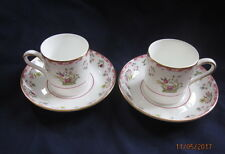 WEDGWOOD (WILLIAMSBURG) R4499 BIANCA  2 X COFFEE ESPRESSO CANS CUPS AND SAUCERS