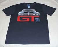 Ford Falcon XY GT Mens Navy Blue Printed Short Sleeve T Shirt Size XXL New