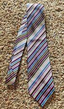 CHARLES TYRWHITT Multi-Color Stripe Hand Made 100% Silk Tie