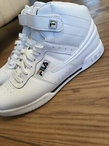 FILA LADIES UK 6 HIGH TOPS WHITE  TRAINERS LEATHER RRP£65. Exc Condition
