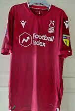 2019/20 Joe Worrall Heads Up Nottingham Forest Match Issued Shirt v Leeds United