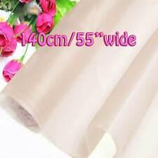 2 Yards Cloud Pink Pure Silk Organza Bridal Dress Fabric 140cm W