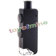 60x-100x Mini Handheft Taschenmikroskop Lupe Lupe Mit Ledertasche Glas