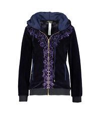 VERSACE Velvet Floral Hoodie Jacket Purple BNWT