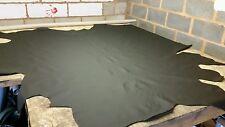 Black automotive leather hide