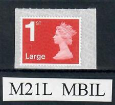 1st class LARGE Machin defin.  M21L  MBIL  ex business sheet, backing paper S/L