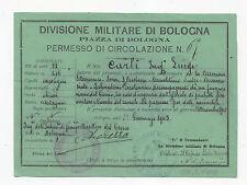 R621-DIVISIONE MILITARE DI BOLOGNA-PERMESSO DI CIRCOLAZIONE