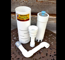 "Aquaponics Bell Siphon CLEAR TOP IBC 10"" MEDIA, Easily Adjustable! 10,000+ Sold!"