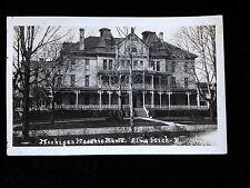 RPPC Real Photo Michigan Masonic Home Alma MI postcard Mason freemason fraternit