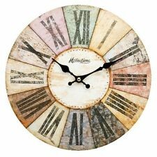 Wall  Clock - 'Hometime' Multi Colour Roman Dial Design 30cm