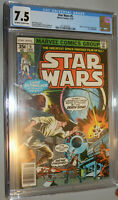 Star wars 5 CGC 7.5 Marvel Comic 1977 off white to white