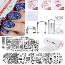 18Pcs Set BP Nail Art Stamping Plate 100+ Elegant Image Design + Stamper Scraper