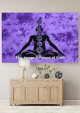 Meditation Yoga Mat Indian Wall Hanging Divine Soul Tapestry Bohemian Dorm Decor