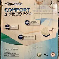 "Therapedic Comfort 2"" Memory Foam Californi King Size Mattress Topper With Cover"