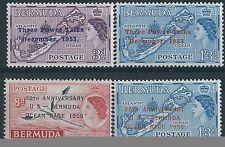 Elizabeth II (1952-Now) Mint Hinged Bermudian Colony Stamps