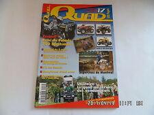 QUAD PASSION MAGAZINE N°17 11/2001 POLARIS 700 SPORTSMAN HONDA 650 RINCON    H38