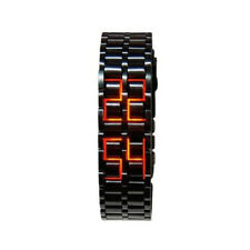 Lava Style Mens Samurai Inspired LED Date Digital Stainless Wrist Watch Bracelet