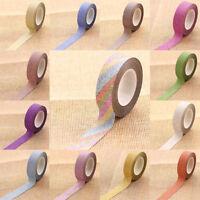 15mm*10m Glitter Washi Tape Scarpbook DIY Adhesive Masking Tape Paper Sticker