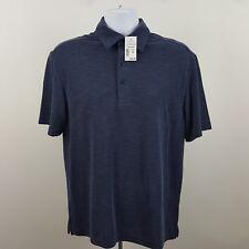 NWT Joseph Abboud Modal Poleyster Men's Blue Adult S/S Polo Shirt Sz Medium M