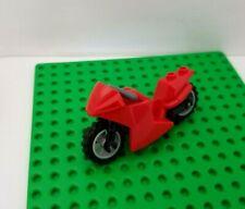 Lego Red Motorcycle Racing Minifigure Biker Cafe Bike Swoop Scoop Muffler Fancy