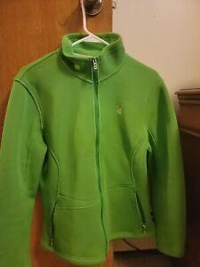 Spyder Women's Sweater Jacket Full Zip Green Sz XL