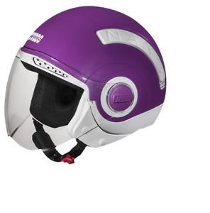 New STUDDS Nano 560 Open Face Helmet Purple color white color - Small size