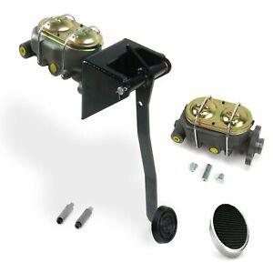Universal FW Manual Brake Pedal kit Drum/Drum3in Chr Pad street master hot car