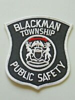 Vintage Blackman Township Public Safety Patch Michigan Embroidered Unused 4375