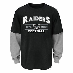 Outerstuff NFL Youth (4-18) Oakland Raiders Long Sleeve T-Shirt