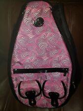 Whak Sak Pink Swirl Tennis Sling Backpack Black/Pink/White Swirl
