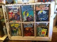 Vintage Window frame sash Comic book Theme witching hour house of secrets