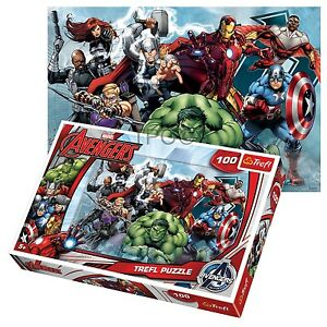 Trefl 100 Piece Kids Boys Marvel Avengers Attack Incredible Hulk Jigsaw Puzzle