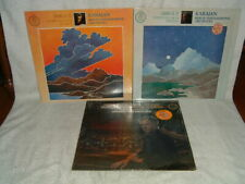 SIBELIUS KARAJAN 3 Quadraphonic LP Lot Symphony #4 #5 Tone Poems Angel SQ Albums