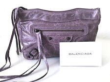 Balenciaga Borsa CLUTCH Pelle VIOLA POCHETTE MOTORCYCLE LEATHER bag purple top