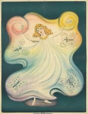 Original Vintage Poster French Loie Fuller Butterfly Dance 1896