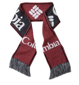 Columbia Scarf Adult Unisex One Size Authentic Lodge Fringe Detailing Red Black