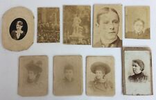 Victorian Carte De Visite Mini CDV Photos - 9 Mixed Images