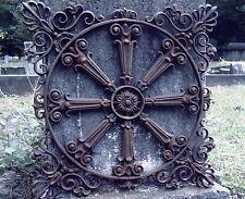 LARGE IRON CIRCULAR GRECIAN DESIGN GARDEN FENCE GATE PANEL GRATE HEAVY WALL