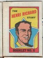 1970/71 Topps Hockey - Story Booklet - #6 Henri Richard - Montreal - nrmt